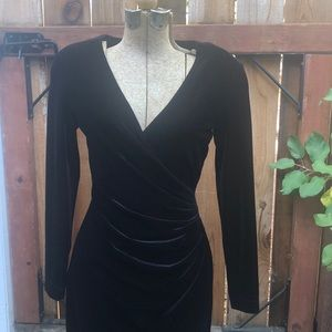Cache velvet black long dress vintage